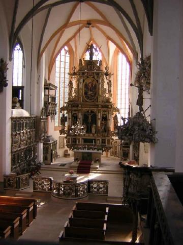 Innenraum mit Blick zum Hochaltar (1665)