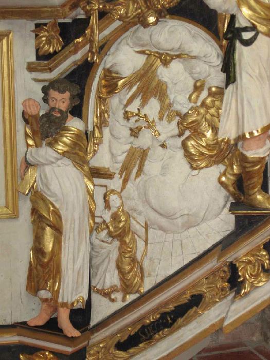 Mariae Verkündigung mit Apostel Andreas