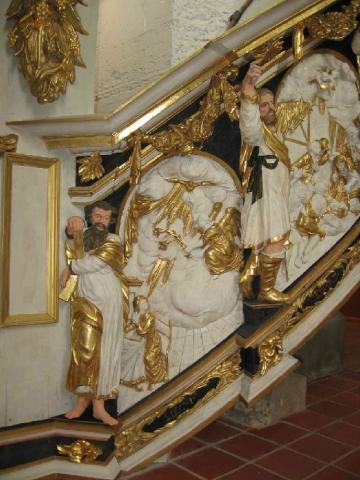 Mariae Verkündigung mit Apostel Andreas und Jakobus
